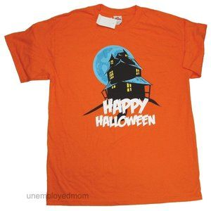 Other - Haunted House Adult Mens Happy Halloween Tee